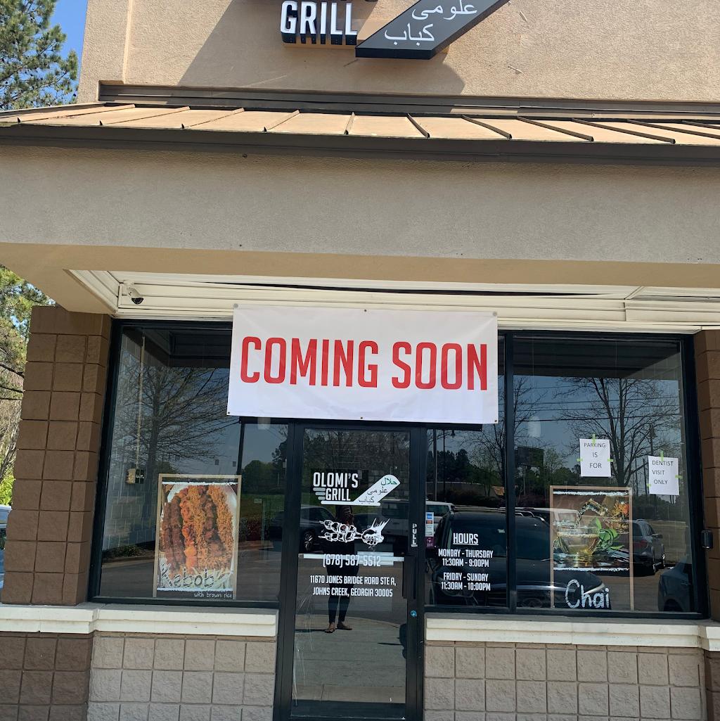 حلال علومى كباب Olomis Grill | restaurant | 11670 Jones Bridge Rd, Johns Creek, GA 30005, USA | 6785875512 OR +1 678-587-5512