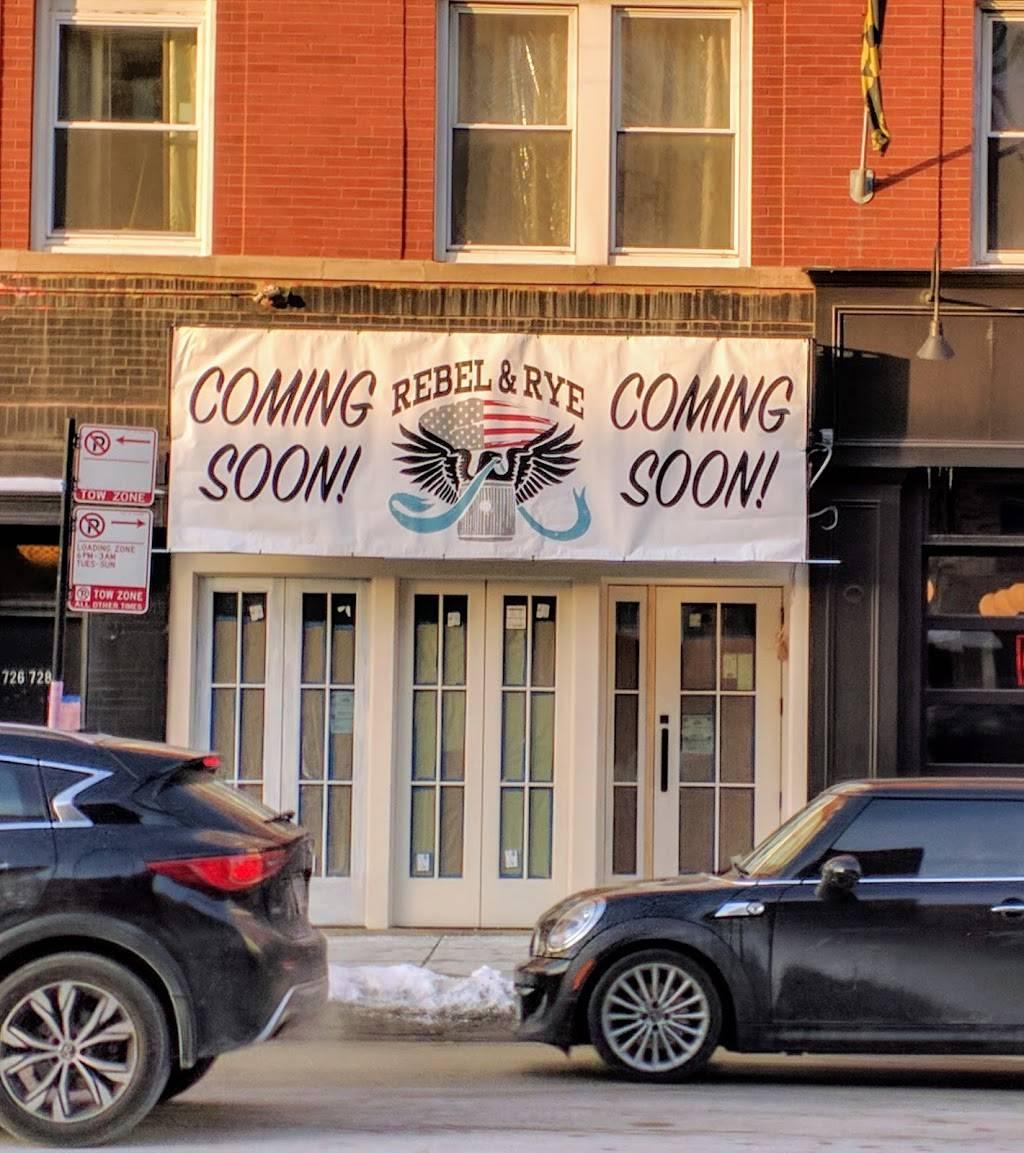 Rebel & Rye | restaurant | 726 W Grand Ave, Chicago, IL 60654, USA