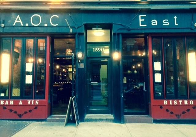 AOC East | restaurant | 1590 1st Avenue, New York, NY 10028, USA | 6469985749 OR +1 646-998-5749