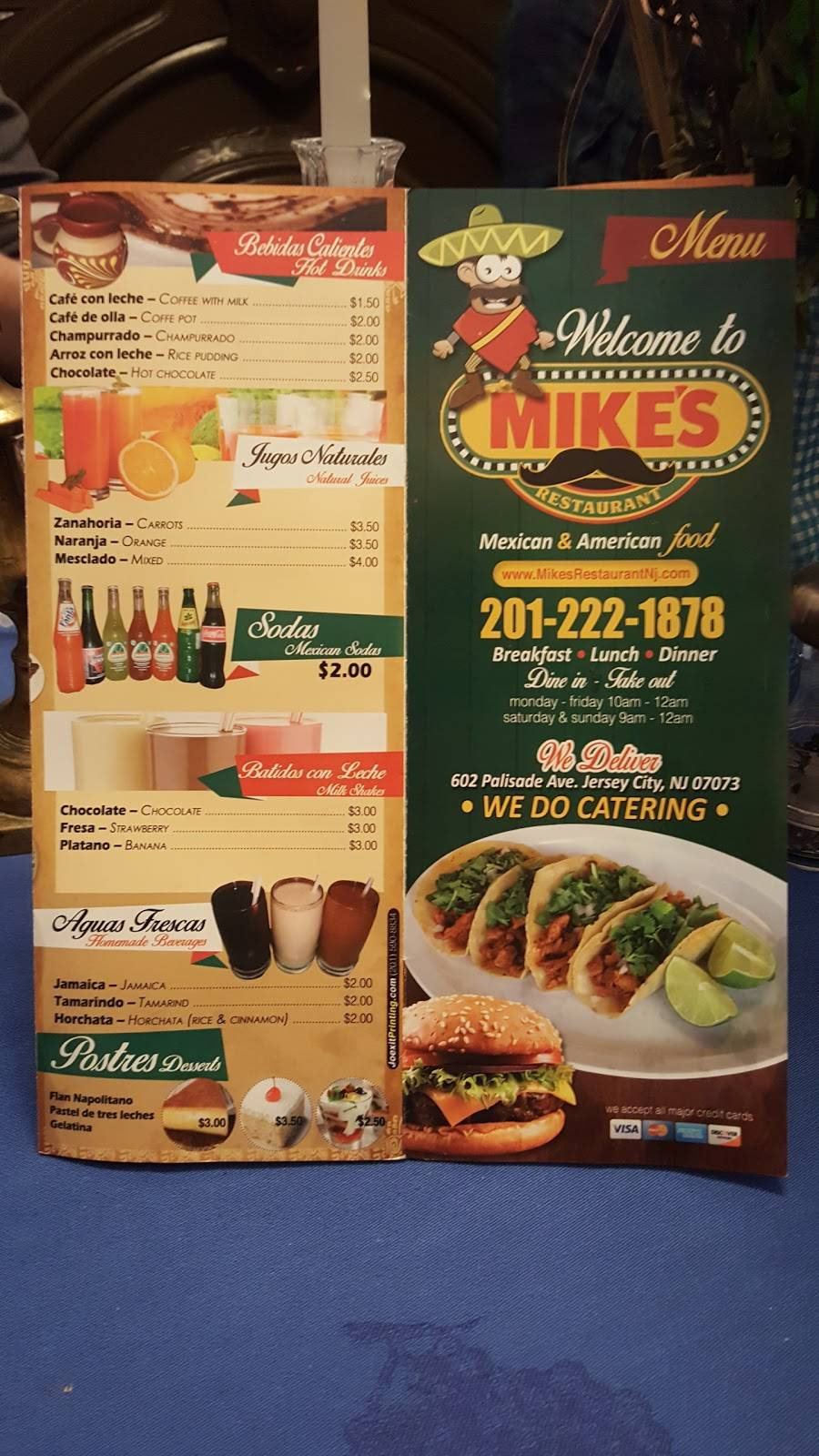 Mikes Restaurant   restaurant   602 Palisade Ave, Jersey City, NJ 07307, USA   2012221878 OR +1 201-222-1878