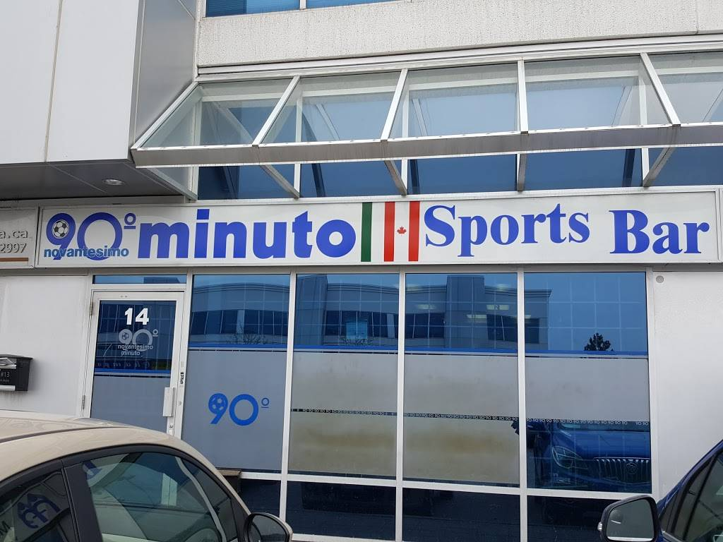 Novantesimo Minuto Sports Bar   restaurant   7611 Pine Valley Dr UNIT 14, Woodbridge, ON L4L 9A9, Canada   9058507151 OR +1 905-850-7151