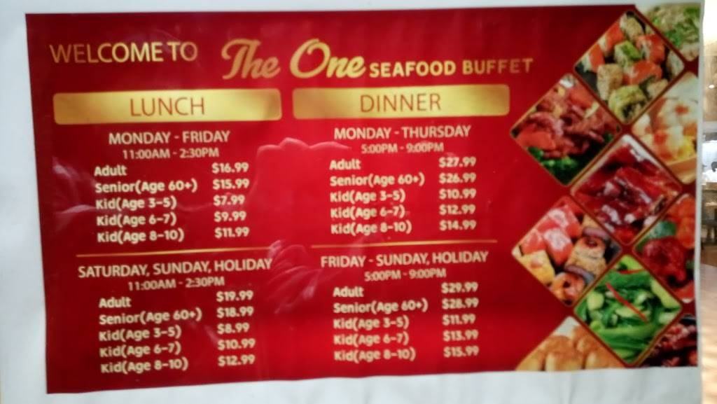 The One Seafood Buffet | restaurant | 1901 Junipero Serra Blvd, Daly City, CA 94014, USA | 4153477545 OR +1 415-347-7545