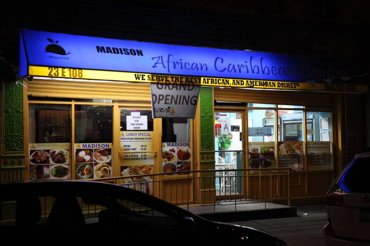 Madison African Caribbean Cuisine | restaurant | 23 E 108th St, New York, NY 10029, USA | 6468690368 OR +1 646-869-0368