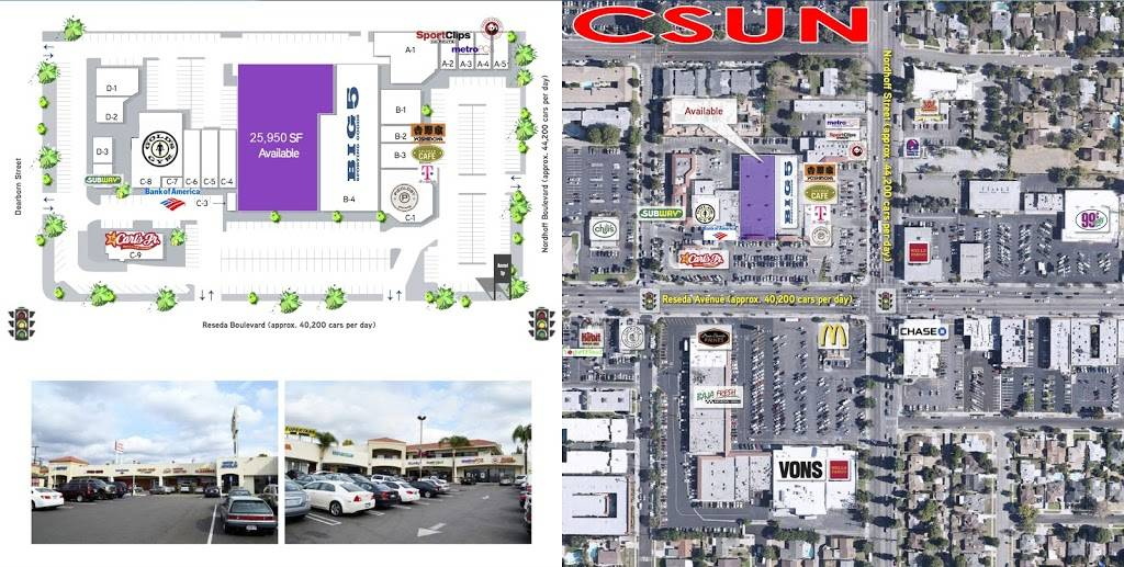 University Plaza | shopping mall | 9124 Reseda Blvd, Northridge, CA 91325, USA | 3104718184 OR +1 310-471-8184