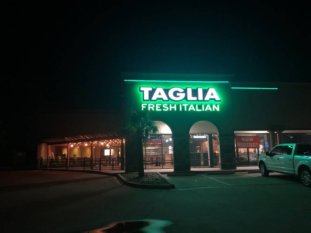 Taglia Fresh Italian | restaurant | 3115 Dixie Farm Rd #101, Pearland, TX 77581, USA | 8328824542 OR +1 832-882-4542