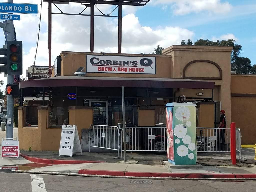 Corbins Q | restaurant | 6548 El Cajon Blvd, San Diego, CA 92115, USA | 6199133287 OR +1 619-913-3287