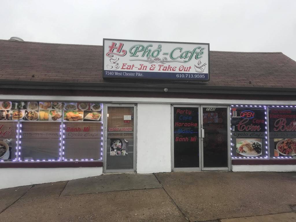 H Pho cafe | restaurant | 7340-7342 West Chester Pike, Upper Darby, PA 19082, USA | 6107139595 OR +1 610-713-9595