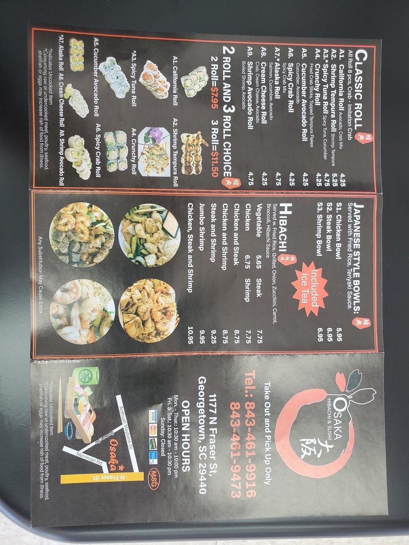 Osaka Hibachi amd Sushi | restaurant | 1179 N Fraser St, Georgetown, SC 29440, USA | 8434619916 OR +1 843-461-9916