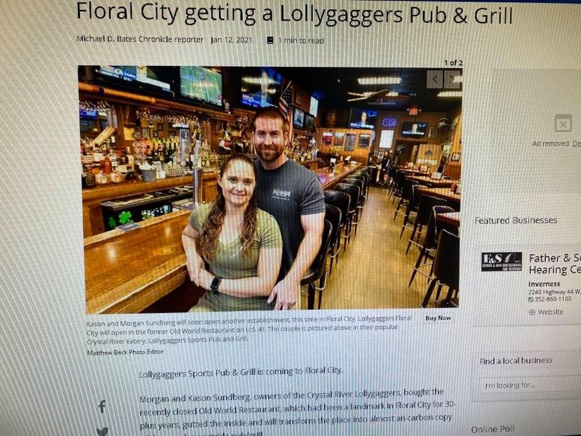 Lollygaggers | restaurant | 8370 S Florida Ave, Floral City, FL 34436, USA