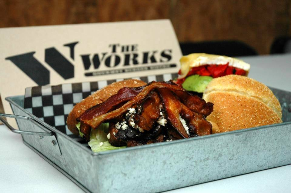The WORKS Gourmet Burger Bistro | restaurant | 8 Queen St E, Brampton, ON L6V 1A2, Canada | 9054561200 OR +1 905-456-1200