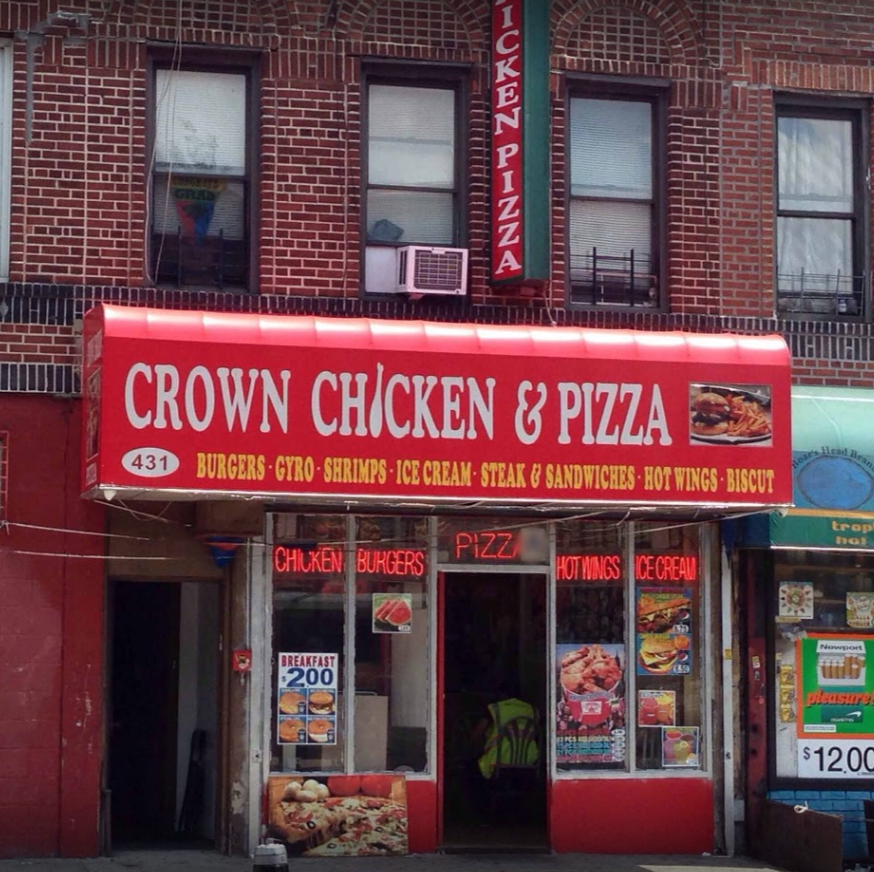 Crown Chicken & Pizza | restaurant | 431 Ralph Ave, Brooklyn, NY 11233, USA | 3474065225 OR +1 347-406-5225