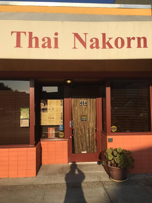 Thai Nakorn Restaurant | restaurant | 464 San Mateo Ave, San Bruno, CA 94066, USA | 6505837555 OR +1 650-583-7555
