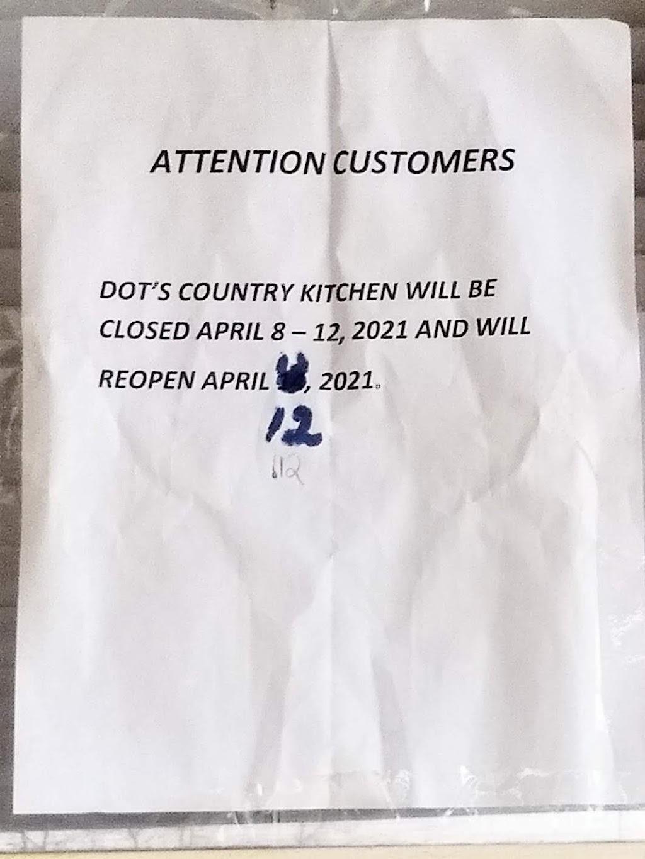 Dots Country Kitchen | restaurant | 113 Main St, Smithville, GA 31787, USA | 2298462223 OR +1 229-846-2223