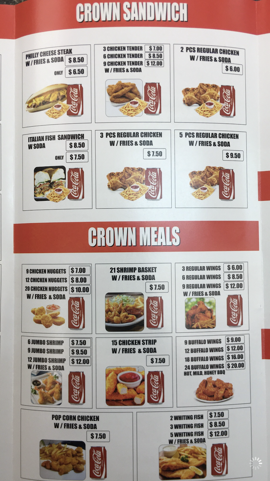 Crown Fried Chicken & Grill | restaurant | 1621 Park Ave, South Plainfield, NJ 07080, USA | 9087550313 OR +1 908-755-0313