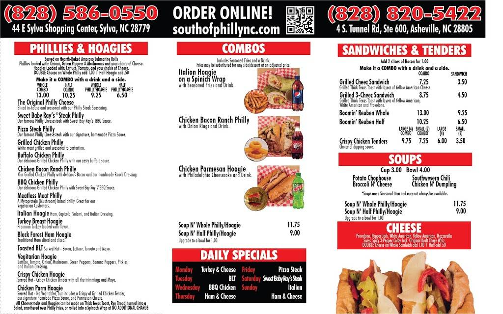 South of Philly | restaurant | 4 S Tunnel Rd Ste 600, Asheville, NC 28805, USA | 8288205422 OR +1 828-820-5422