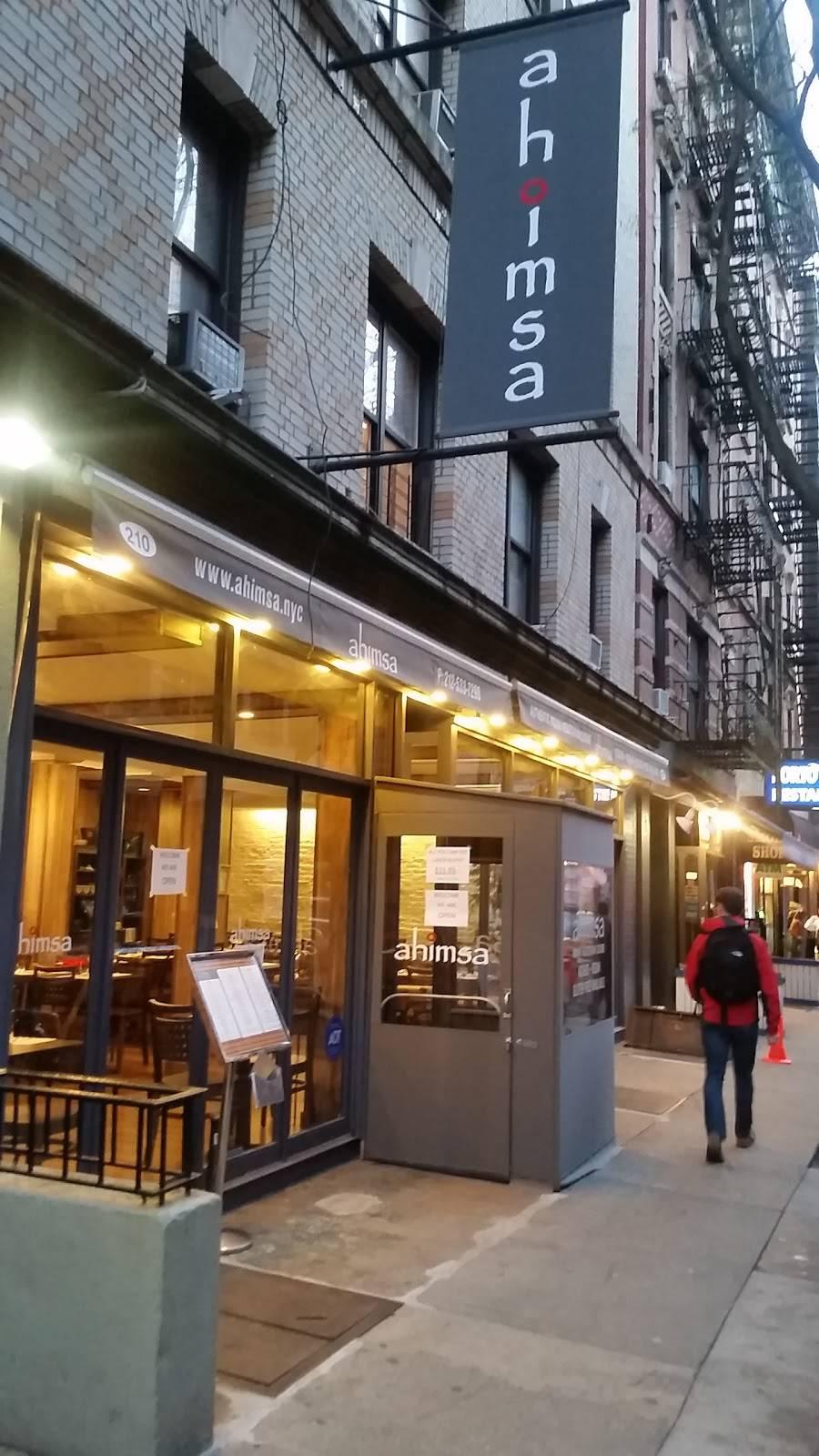 Ahimsa | restaurant | 210 Thompson St, New York, NY 10012, USA | 2125337290 OR +1 212-533-7290