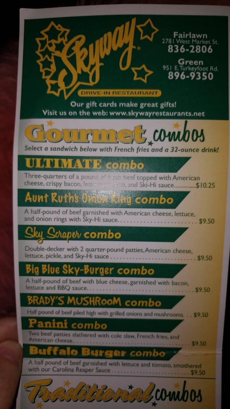 Skyway | restaurant | 2781 W Market St, Fairlawn, OH 44333, USA | 3308362806 OR +1 330-836-2806