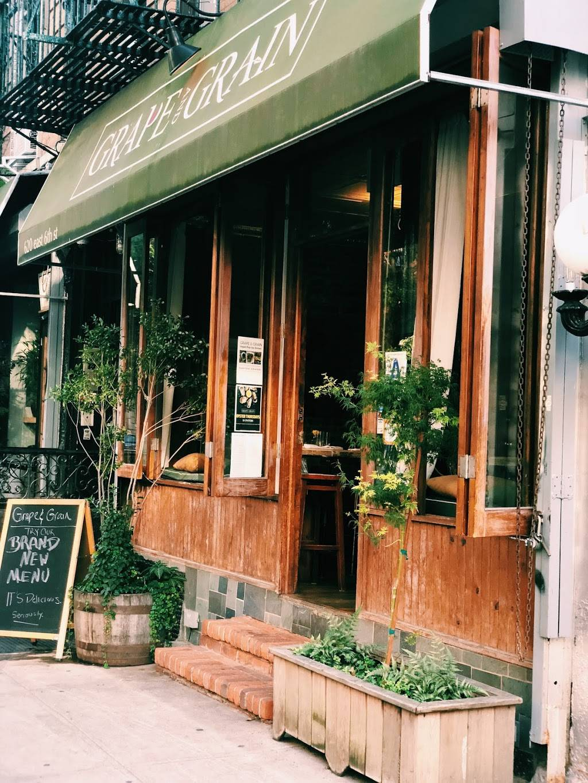 Grape and Grain | restaurant | 620 E 6th St, New York, NY 10009, USA | 6464904029 OR +1 646-490-4029
