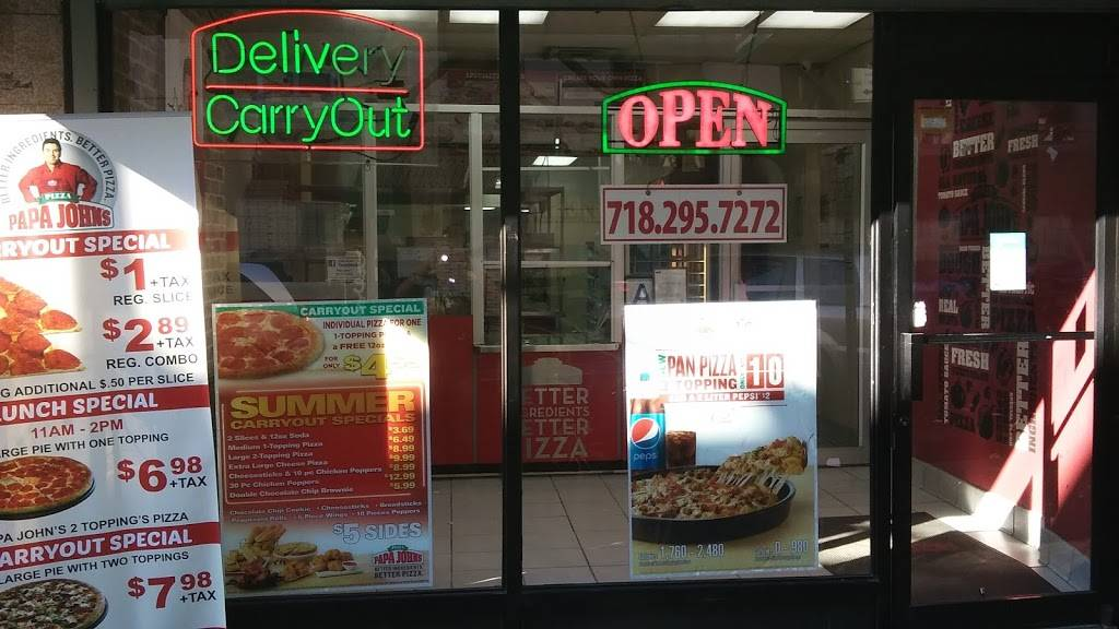 Papa Johns Pizza | restaurant | 1979 Jerome Ave, Bronx, NY 10453, USA | 7182957272 OR +1 718-295-7272