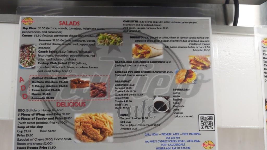 SkyView Cafe | restaurant | 100 W Cypress Creek Rd # 835, Fort Lauderdale, FL 33309, USA