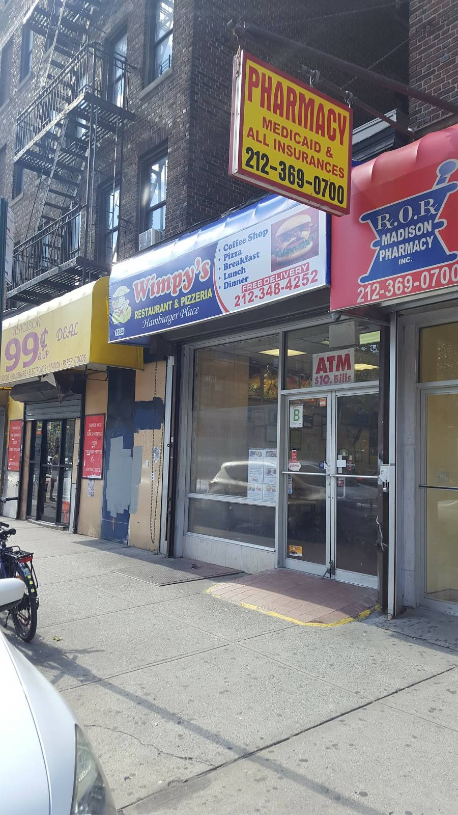 Wimpys   restaurant   1634 Madison Ave, New York, NY 10029, USA   2123484252 OR +1 212-348-4252