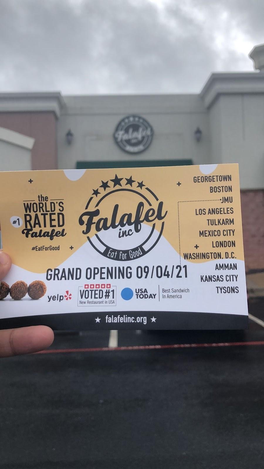 Falafel Inc   restaurant   1645 Reservoir St #110, Harrisonburg, VA 22801, USA
