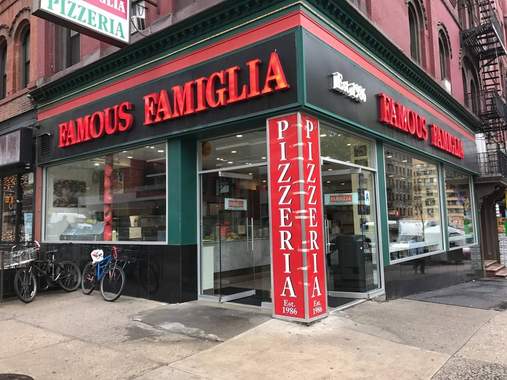 Famous Famiglia Pizzeria | restaurant | 734 Amsterdam Ave, New York, NY 10025, USA | 2128647193 OR +1 212-864-7193
