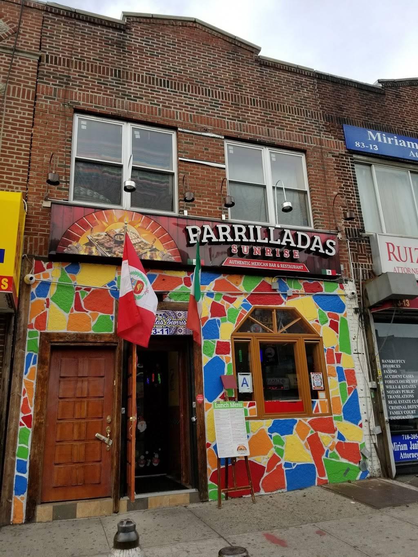 Parrilladas Sunrise   restaurant   8311 Northern Blvd, Jackson Heights, NY 11372, USA   9173964825 OR +1 917-396-4825