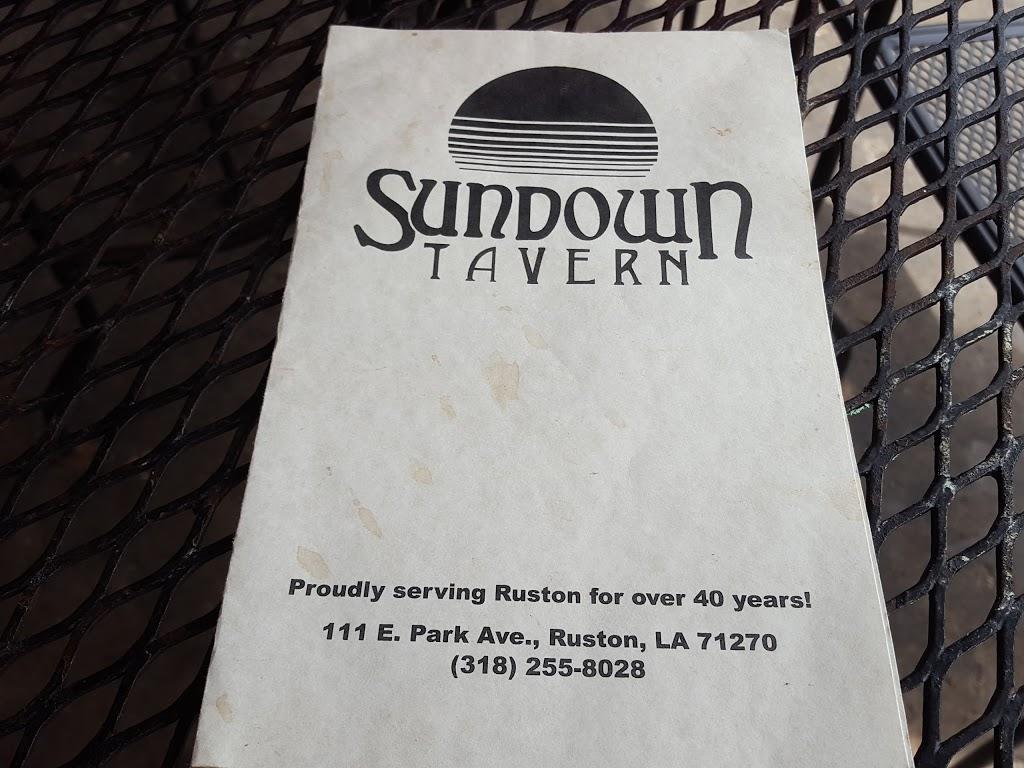 Sundown Tavern   restaurant   111 E Park Ave, Ruston, LA 71270, USA   3182558028 OR +1 318-255-8028