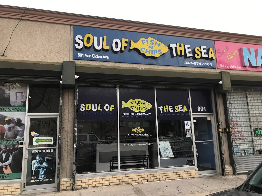 Soul Of The Sea Fish N Chips   restaurant   787 Van Siclen Ave, Brooklyn, NY 11207, USA   3478741164 OR +1 347-874-1164