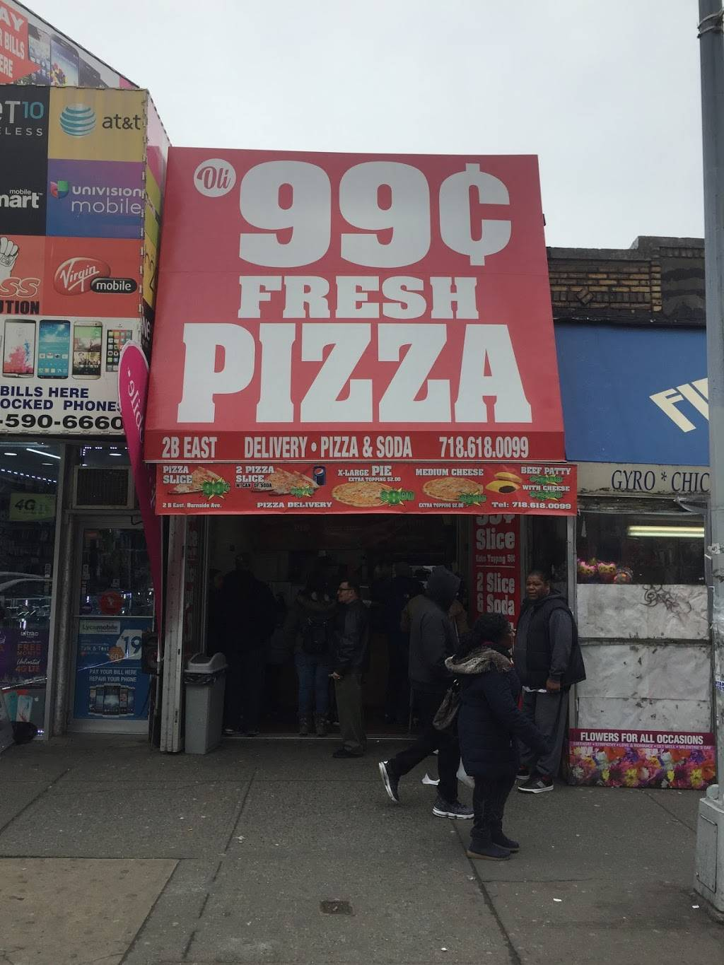 Oli 99 Cent Fresh Pizza | restaurant | 2 E Burnside Ave, Bronx, NY 10453, USA | 7186180099 OR +1 718-618-0099