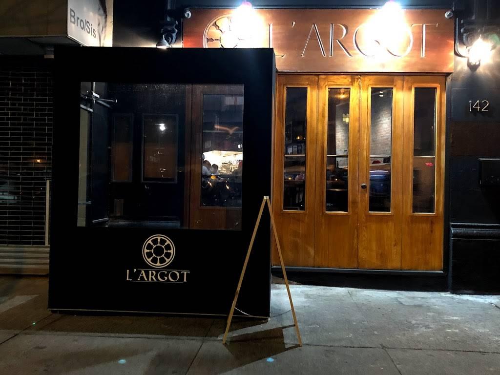 L ARGOT | restaurant | 142 Hamilton Pl, New York, NY 10031, USA | 6468580312 OR +1 646-858-0312