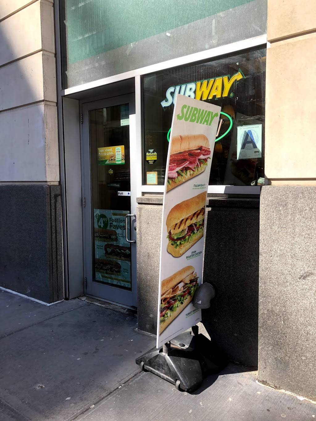 Subway Restaurants | restaurant | 33 West End Avenue, Space A, New York, NY 10023, USA