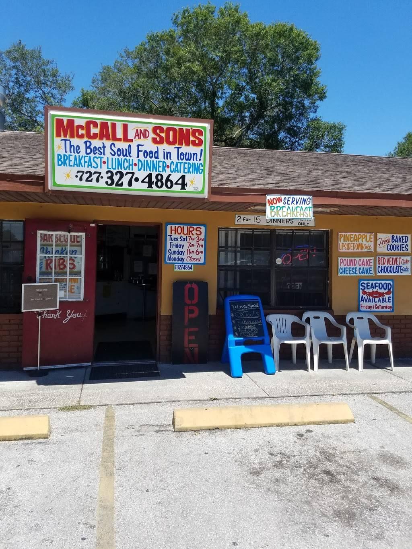 McCalls and Son Restaurant   restaurant   1828 49th St S, Gulfport, FL 33707, USA   7273274864 OR +1 727-327-4864