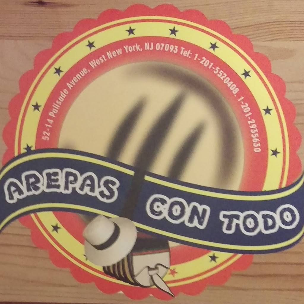 Arepas Con Todo | restaurant | 5214 Palisade Ave, West New York, NJ 07093, USA | 2012935630 OR +1 201-293-5630