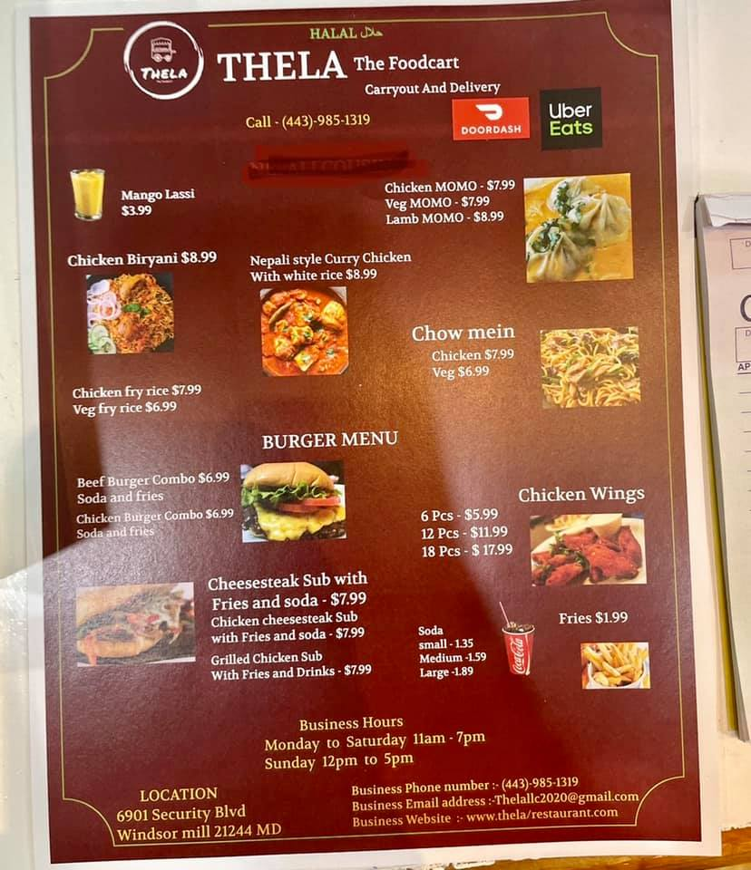 Thela The Food Cart   restaurant   6901 Security Blvd, Baltimore, MD 21244, USA   4439851319 OR +1 443-985-1319
