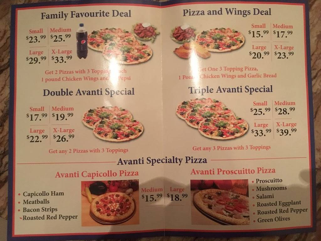 Avanti Pizza | restaurant | 218 Silvercreek Pkwy N, Guelph, ON N1H 8E8, Canada | 5197664222 OR +1 519-766-4222