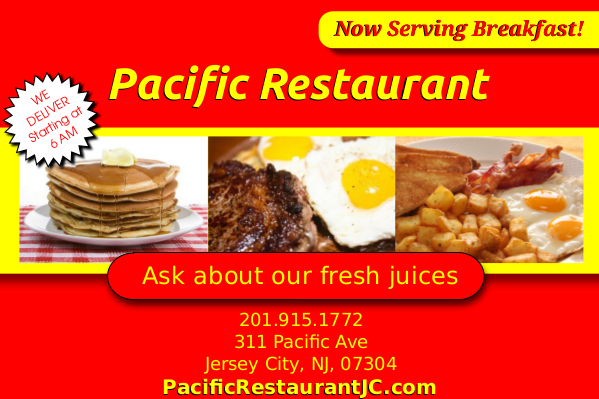 Pacific Restaurant   restaurant   311 Pacific Ave, Jersey City, NJ 07304, USA   2019151772 OR +1 201-915-1772