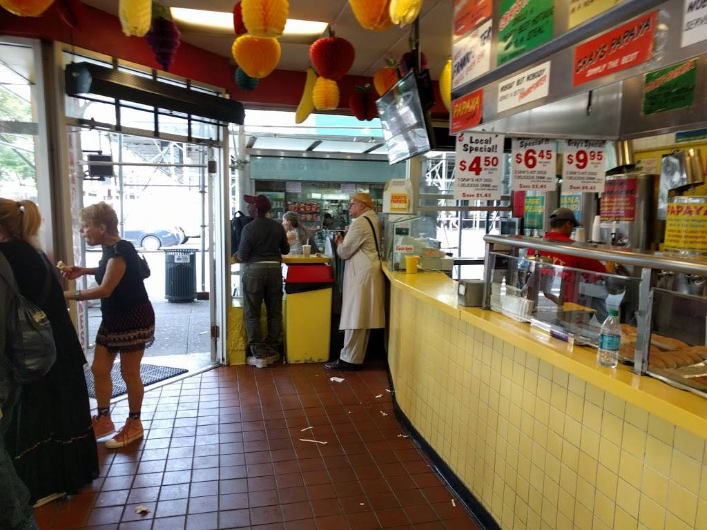 Grays Papaya | restaurant | 2090 Broadway, New York, NY 10023, USA | 2127990243 OR +1 212-799-0243