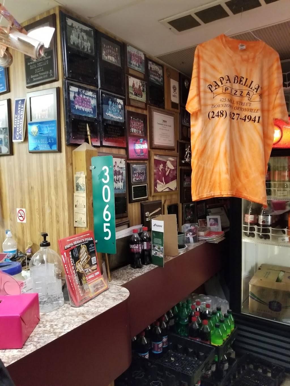 Papa Bellas Pizza   restaurant   425 Mill St, Ortonville, MI 48462, USA   2486274941 OR +1 248-627-4941
