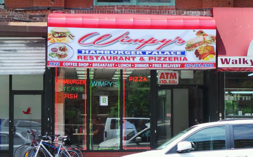 Wimpys | restaurant | 1822 Amsterdam Ave, New York, NY 10031, USA | 2122818989 OR +1 212-281-8989