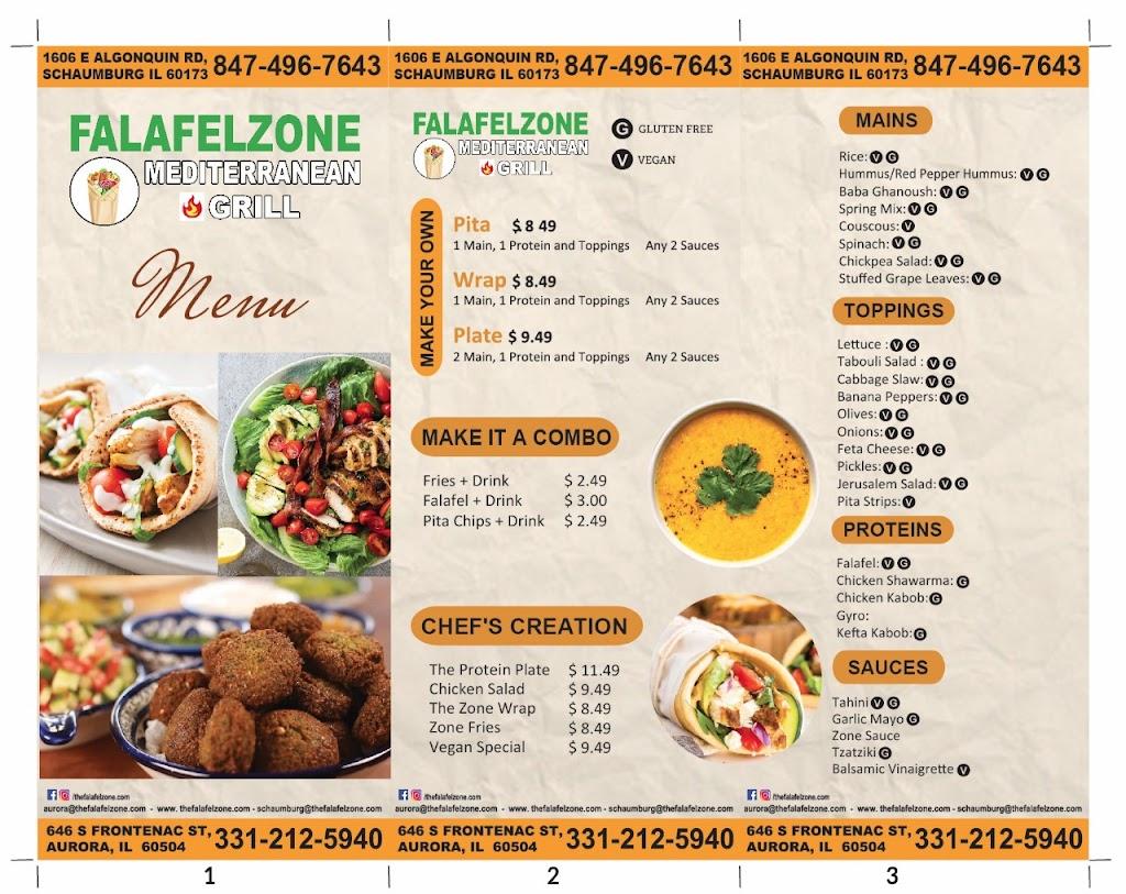 Falafel Zone | restaurant | 646 S Frontenac St, Aurora, IL 60504, USA | 3312125940 OR +1 331-212-5940