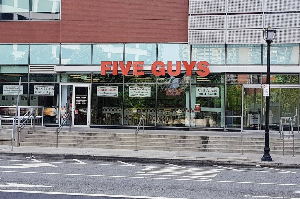 Five Guys | meal takeaway | 286 Washington St, Jersey City, NJ 07302, USA | 2014336700 OR +1 201-433-6700