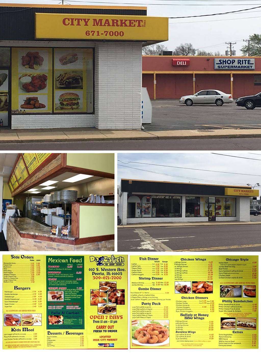 Western Market & Da Catch | restaurant | 610 South Western Avenue, Peoria, IL 61605, USA | 3096717000 OR +1 309-671-7000
