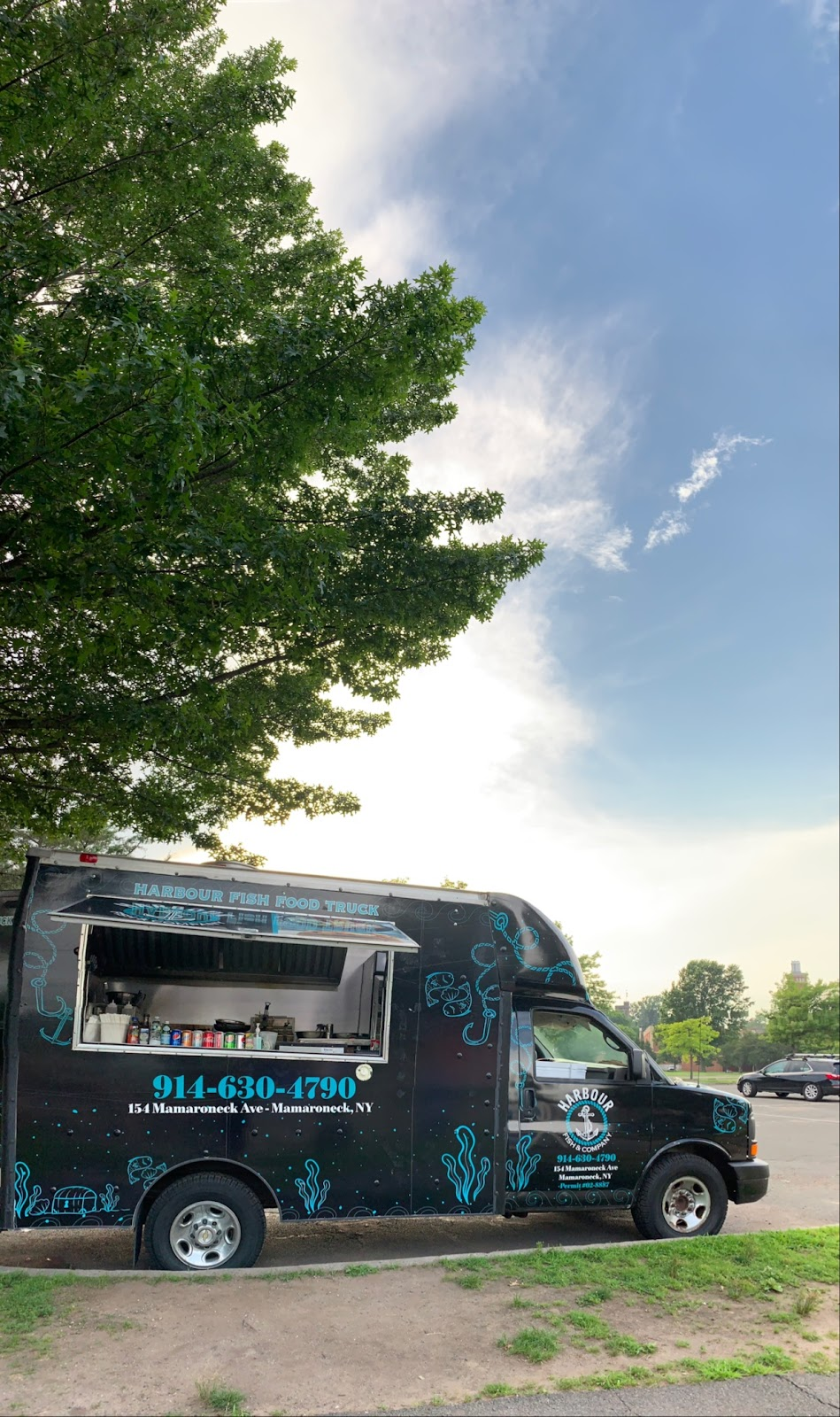 Harbour fish food truck | restaurant | 60-98 Harbor Island Park, Mamaroneck, NY 10543, USA