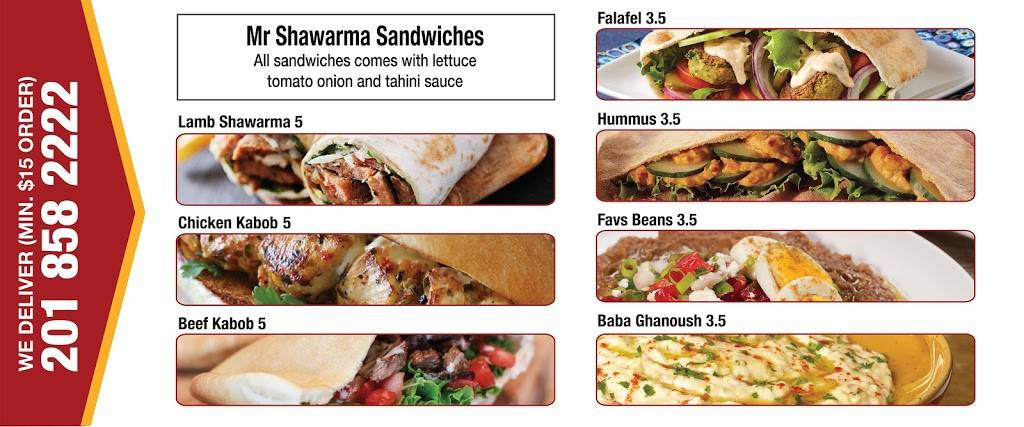 Mr. Shawerma   restaurant   1033 Broadway, Bayonne, NJ 07002, USA   2018582222 OR +1 201-858-2222