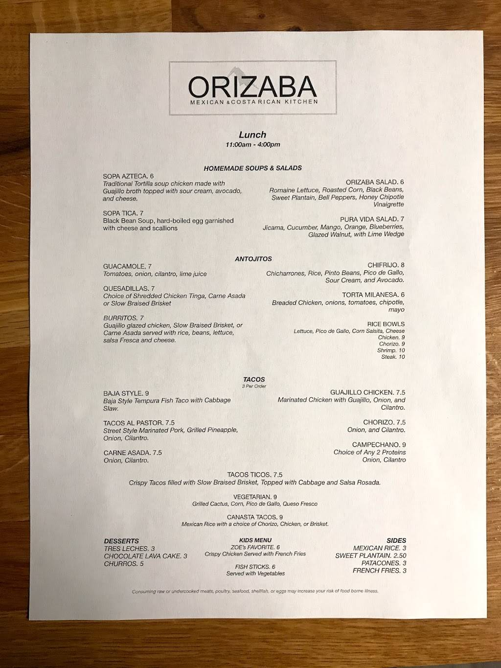 Orizaba Mexican & Costa Rican Kitchen | restaurant | 614 W Broad St, Bethlehem, PA 18018, USA | 4848934467 OR +1 484-893-4467