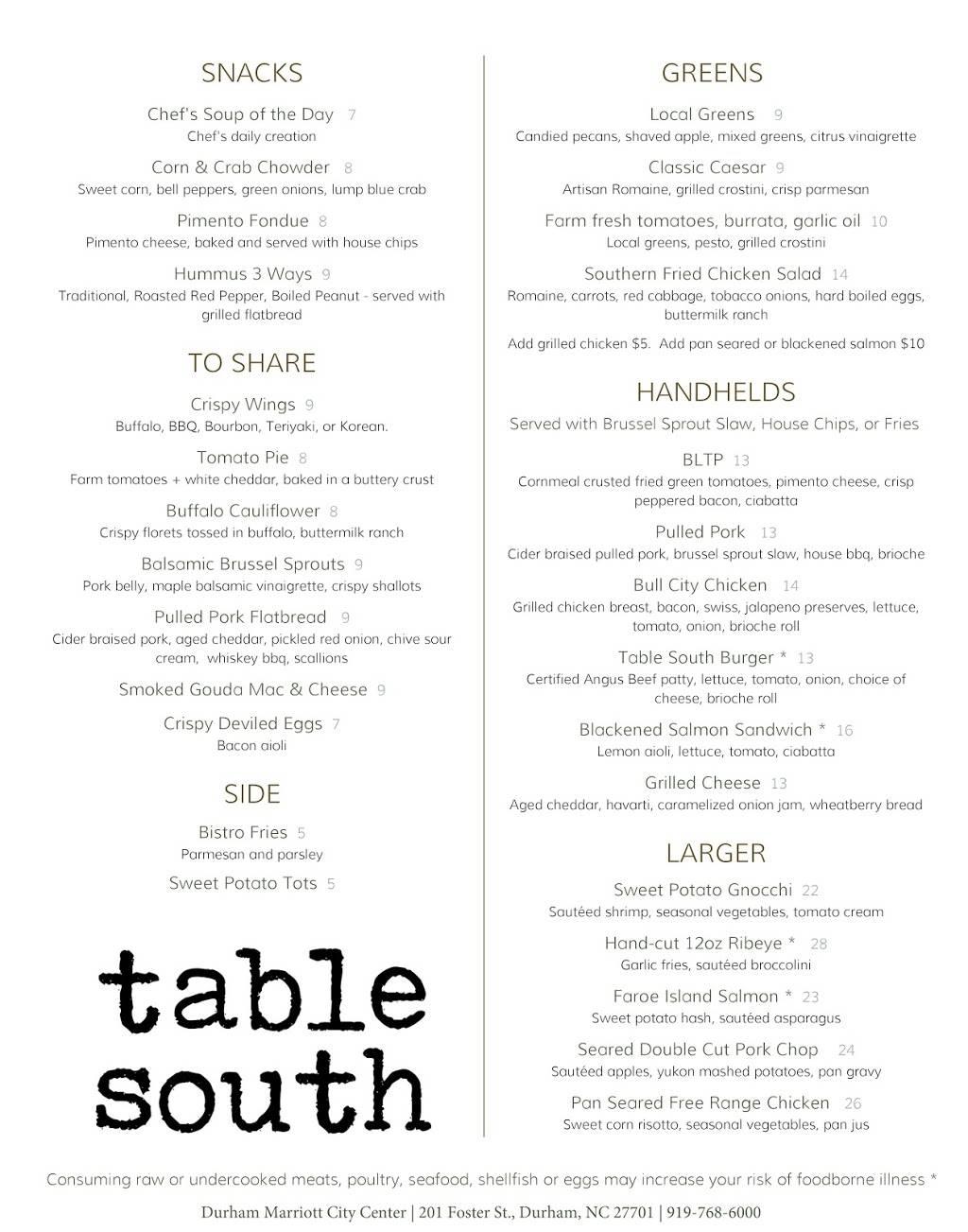 Table South Kitchen & Bar   Restaurant   9 Foster St, Durham, NC ...