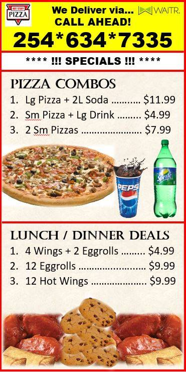Hot Stuff Pizza & Food In Sunoco | meal delivery | 1109 S Fort Hood St, Killeen, TX 76542, USA | 2546347335 OR +1 254-634-7335