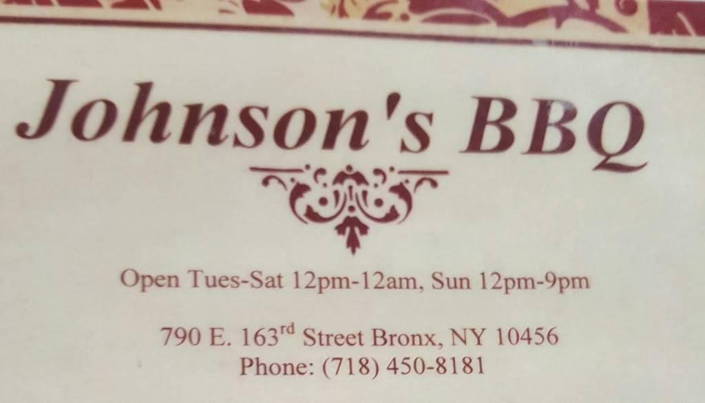Johnson Bar-B-Q | restaurant | 790 E 163rd St, Bronx, NY 10456, USA